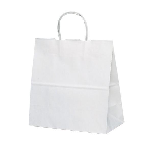 T-6W 自動紐手提袋 紙袋 紙丸紐タイプ 300×150×300mm 300枚 白無地 1686 メーカ直送品  代引き不可/同梱不可