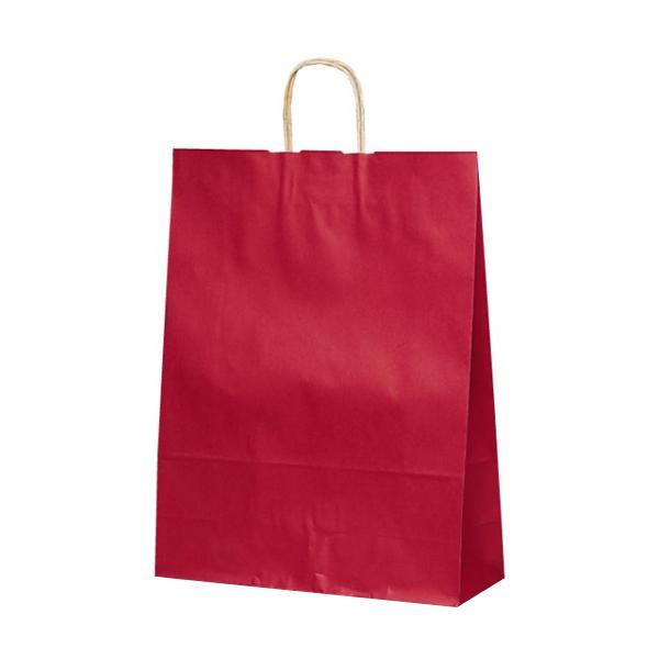 T-12 自動紐手提袋 紙袋 紙丸紐タイプ 380×145×500mm 200枚 カラー(赤) 1447 メーカ直送品  代引き不可/同梱不可