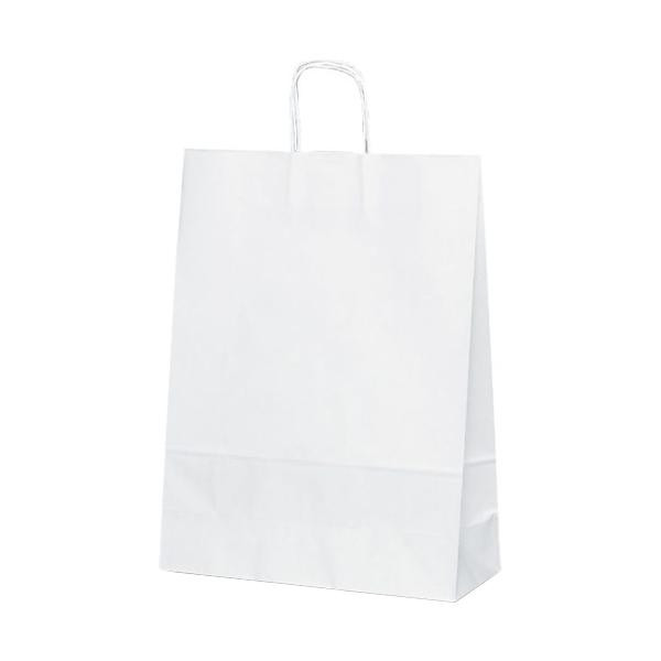 T-12 自動紐手提袋 紙袋 紙丸紐タイプ 380×145×500mm 200枚 白無地 1498 メーカ直送品  代引き不可/同梱不可