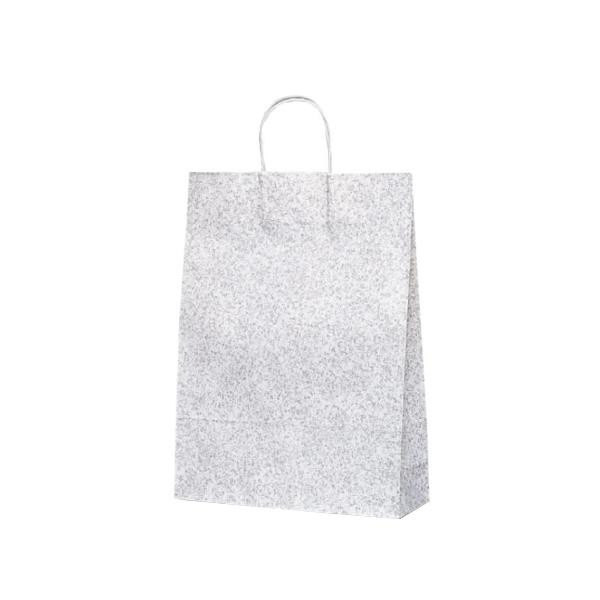 T-12 自動紐手提袋 紙袋 紙丸紐タイプ 380×145×500mm 200枚 フロスティ(グレー) 1445 メーカ直送品  代引き不可/同梱不可