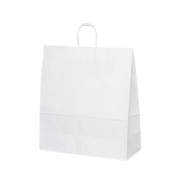 T-15 自動紐手提袋 紙袋 紙丸紐タイプ 450×180×500mm 200枚 白無地 1548 メーカ直送品  代引き不可/同梱不可