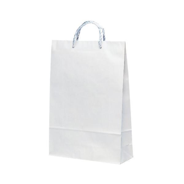 T-8 自動紐手提袋 紙袋 PP紐タイプ 320×115×460mm 200枚 白無地 1838 メーカ直送品  代引き不可/同梱不可