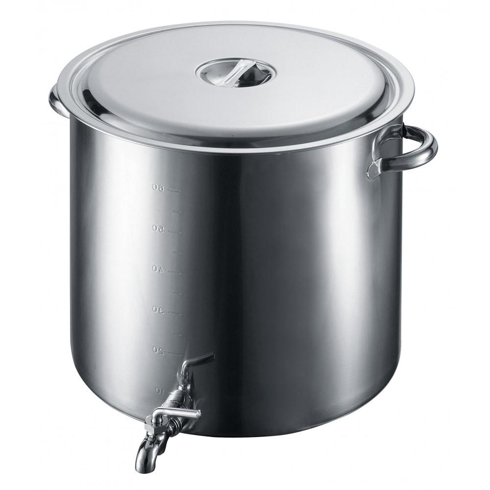 EBM 18-8 蛇口付 スープ寸胴鍋 55cm 3589100 メーカ直送品  代引き不可/同梱不可