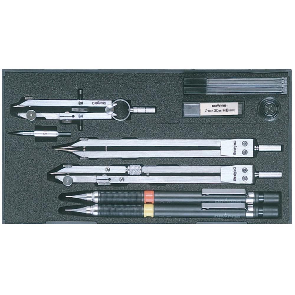 ドラパス NO.524 独式製図器セット 6本組14品 メーカ直送品  代引き不可/同梱不可