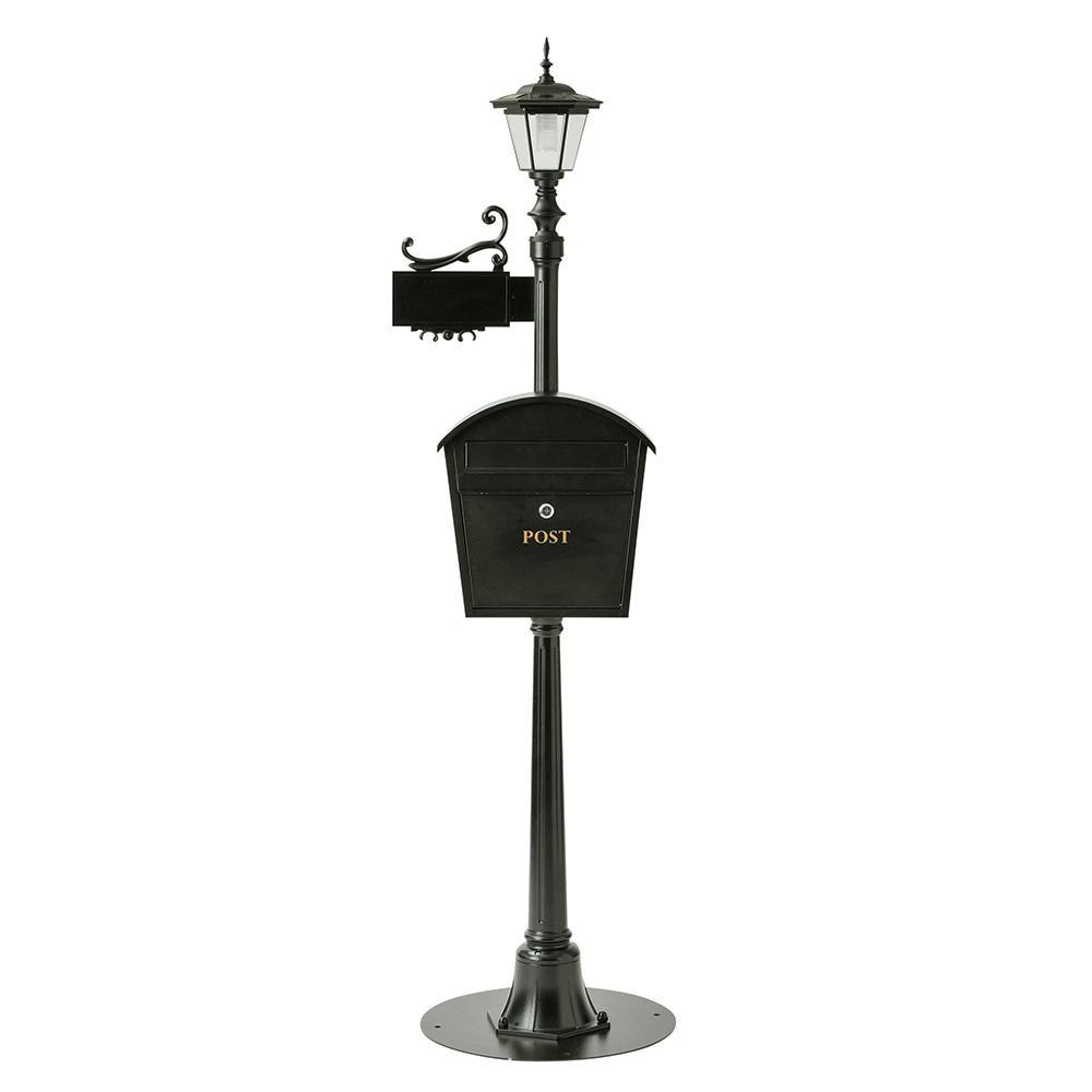 セトクラフト 街路灯ポスト 表札付き SI-2612-4500 メーカ直送品  代引き不可/同梱不可