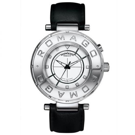 ROMAGO DESIGN (ロマゴデザイン) Flow series フローシリーズ 腕時計 RM002-0055ST-SV メーカ直送品  代引き不可/同梱不可
