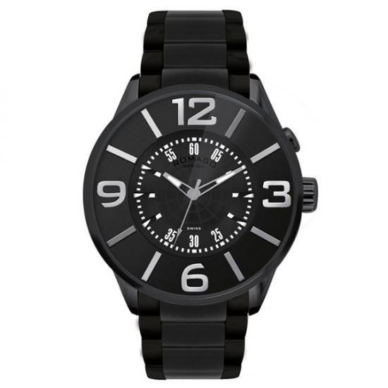 ROMAGO DESIGN (ロマゴデザイン) Numeration series ヌメレーションシリーズ 腕時計 RM007-0053SS-BK メーカ直送品  代引き不可/同梱不可