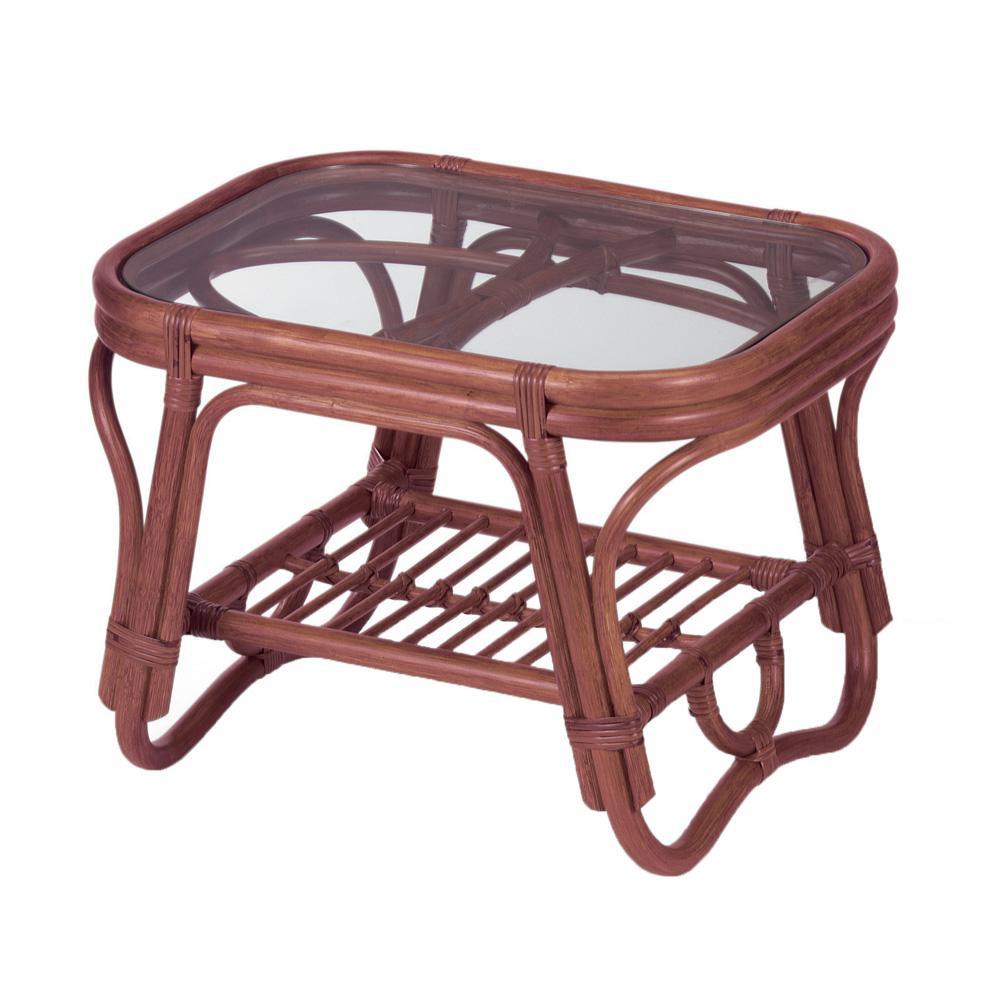 今枝ラタン 籐 テーブル サイドテーブル ブラウン NO-36D メーカ直送品  代引き不可/同梱不可