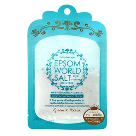 五洲薬品 入浴用化粧品 エプソムワールドソルト グラマラスリゾートシャインの香り (50g×10袋)×12箱(120袋入り) EWS-BL メーカ直送品  代引き不可/同梱不可