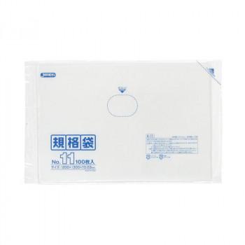 ジャパックス LD規格袋 厚み0.030mm No.11 透明 100枚×10冊×6箱 K-11 メーカ直送品  代引き不可/同梱不可