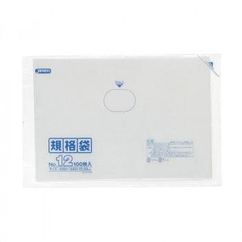 ジャパックス LD規格袋 厚み0.030mm No.12 透明 100枚×10冊×4箱 K-12 メーカ直送品  代引き不可/同梱不可