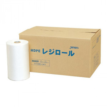 ジャパックス レジロールポリ袋 半透明 2500枚×6巻 RG620 メーカ直送品  代引き不可/同梱不可