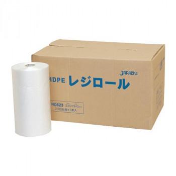 ジャパックス レジロールポリ袋 半透明 2500枚×6巻 RG623 メーカ直送品  代引き不可/同梱不可