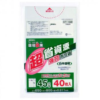 ジャパックス 環境袋策省資源ポリ袋45L 白半透明 40枚×30冊 KT102 メーカ直送品  代引き不可/同梱不可