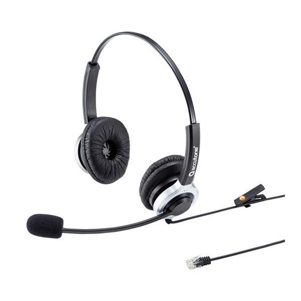 軽くて快適な装着感! サンワサプライ 電話用ヘッドセット(両耳タイプ) MM-HSRJ01 メーカ直送品  代引き不可/同梱不可