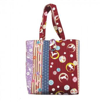 超人気 市松模様をとり入れた 新桜うさぎ シリーズ 市松うさぎ 手提げバッグ 小 赤 同梱不可 ふるさと割 代引き不可 メーカ直送品 1303