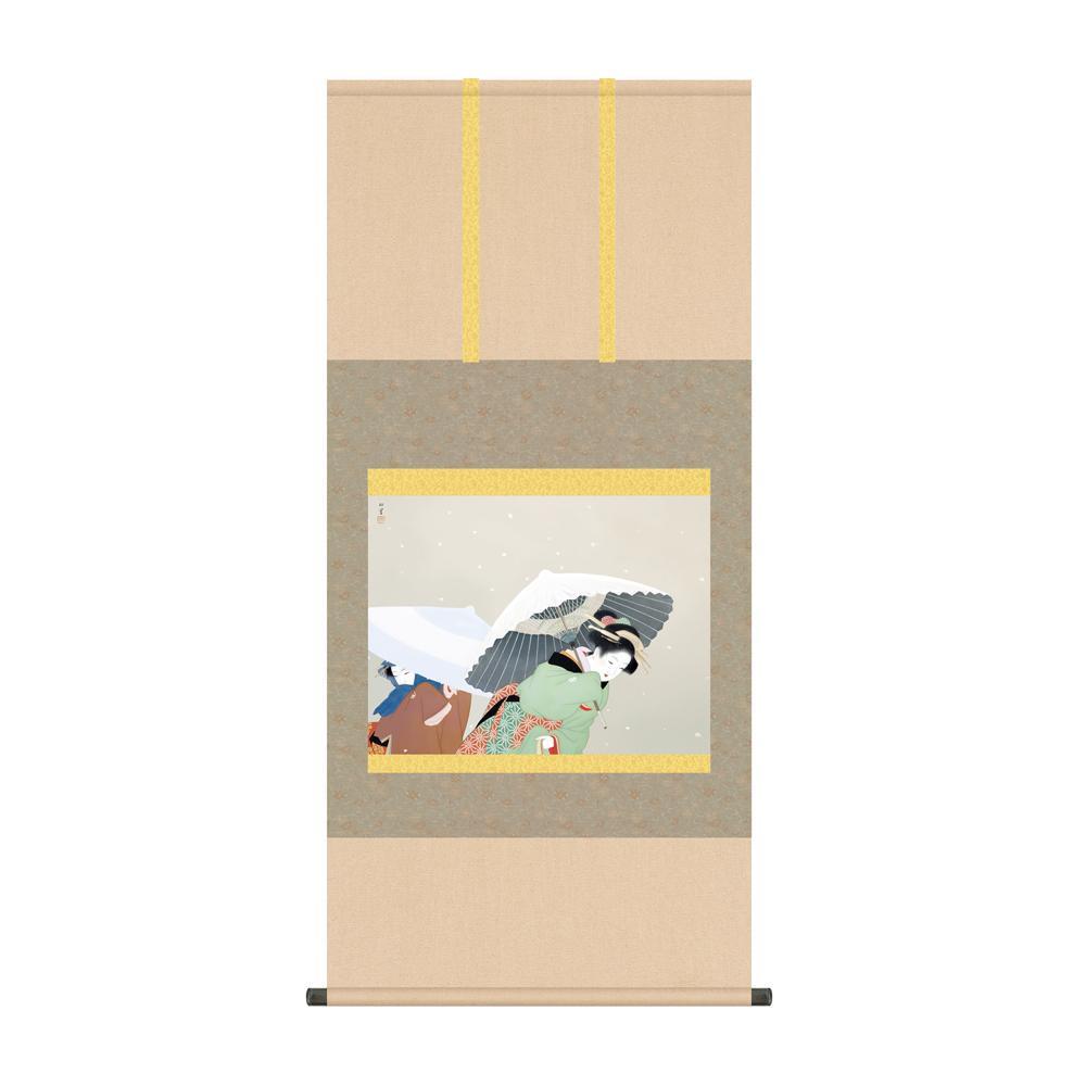 掛軸 上村松園「牡丹雪」 KZ2G9-026 54.5×115cm メーカ直送品  代引き不可/同梱不可