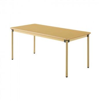 オフィス・施設向け家具 オールラウンドテーブル 160×75×70cm メープル UFT-ST1675 メーカ直送品  代引き不可/同梱不可