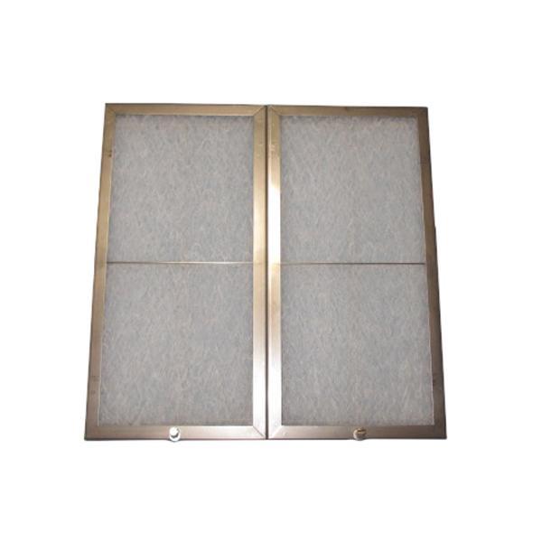 東洋機械 ガラス繊維 レンジフードフィルター ネジ止めタイプ 39.2×19.6 ステンレス製取付用枠2枚+フィルター2枚 メーカ直送品  代引き不可/同梱不可