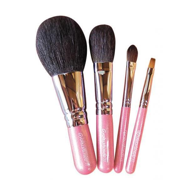 便利な4点セット♪ 化粧筆 オリジナル4点セット ピンク OS01 メーカ直送品  代引き不可/同梱不可