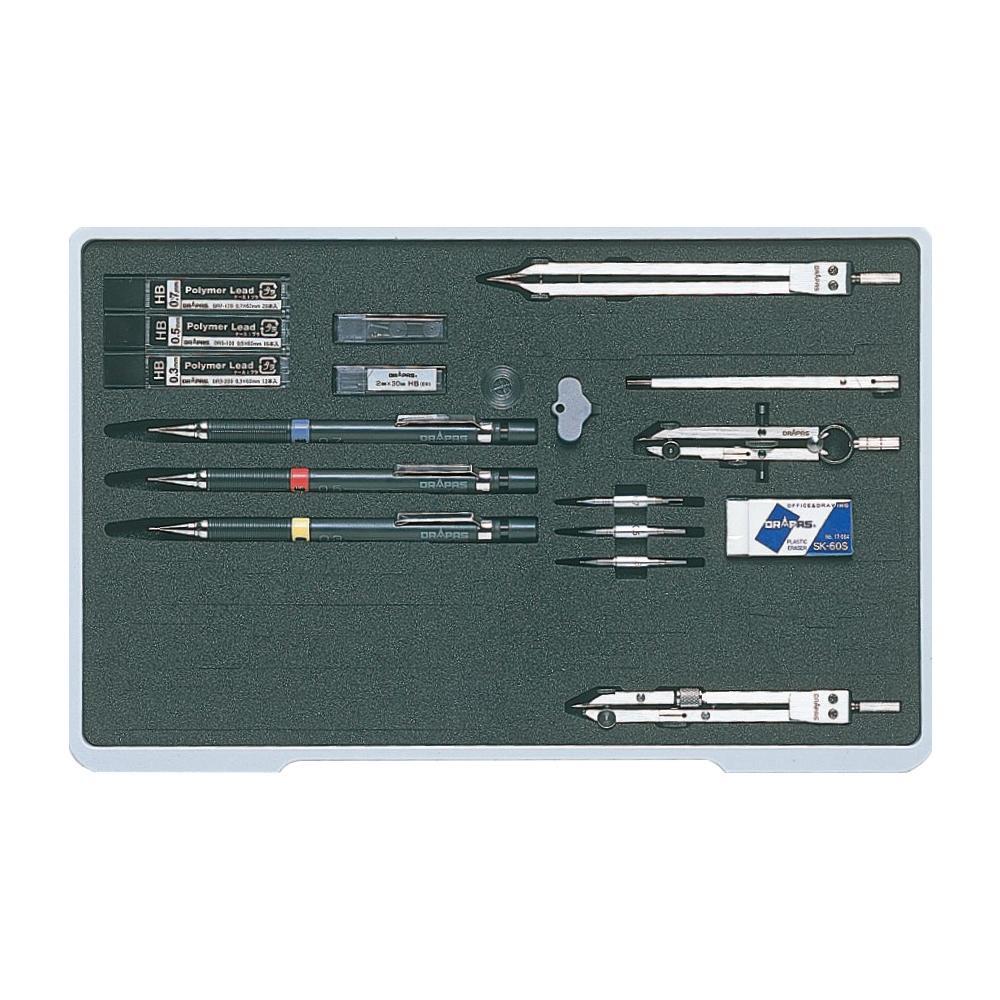 ドラパス NO.004 ユニットケース製図器セット10本組21品 メーカ直送品  代引き不可/同梱不可