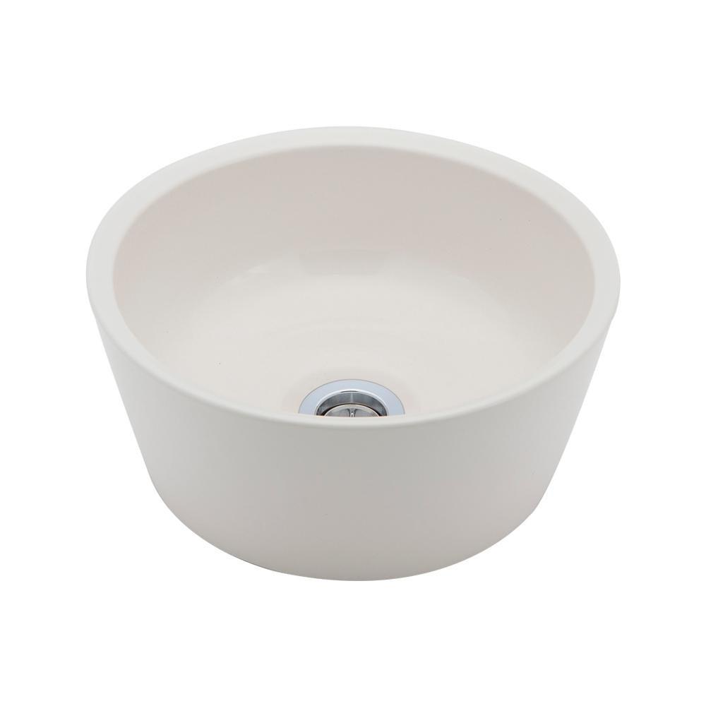 置き型手洗器Φ240(モノクローム・シリーズ/艶白) LSM6S-TU メーカ直送品  代引き不可/同梱不可