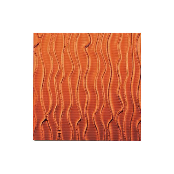 ユーパワー プラデック ウォール アート ウェーブ(メタルオレンジ) PL-18015 代引き不可/同梱不可