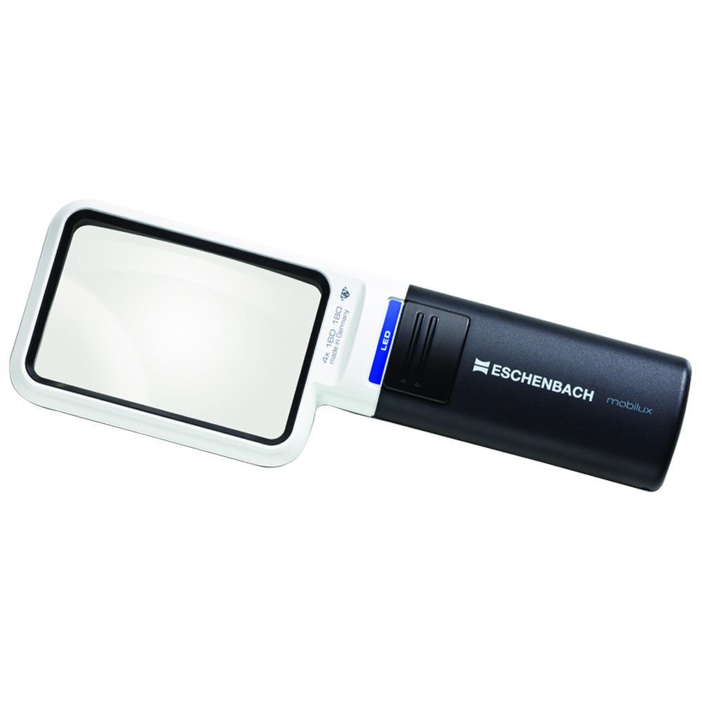 エッシェンバッハ LEDワイドライトルーペ (4倍) 角型 1511-4 メーカ直送品  代引き不可/同梱不可