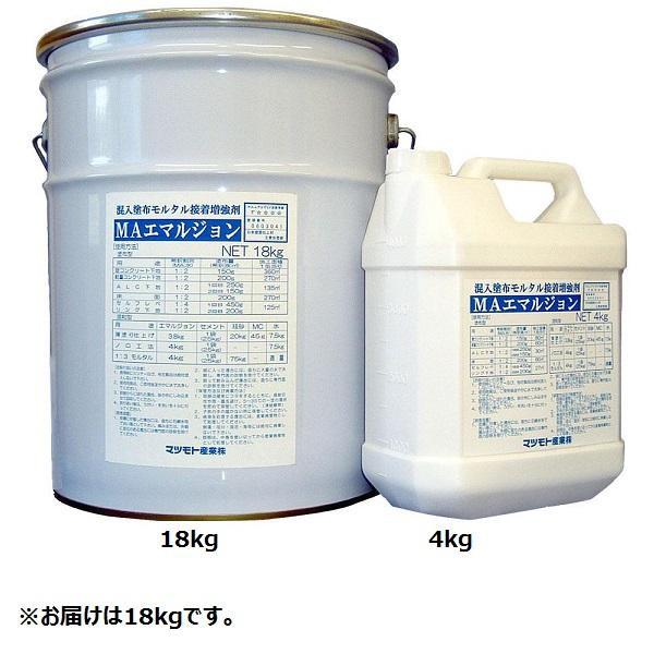 マツモト産業 混入塗布両用モルタル接着増強剤 MAエマルジョン 18kg メーカ直送品  代引き不可/同梱不可