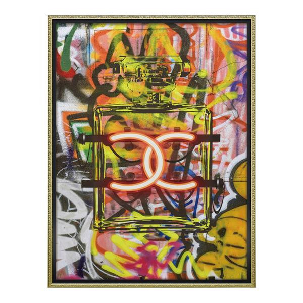 ユーパワー オマージュ キャンバスアート 「グラフィティ パフューム1(Lサイズ)」 BC-18015 メーカ直送品  代引き不可/同梱不可