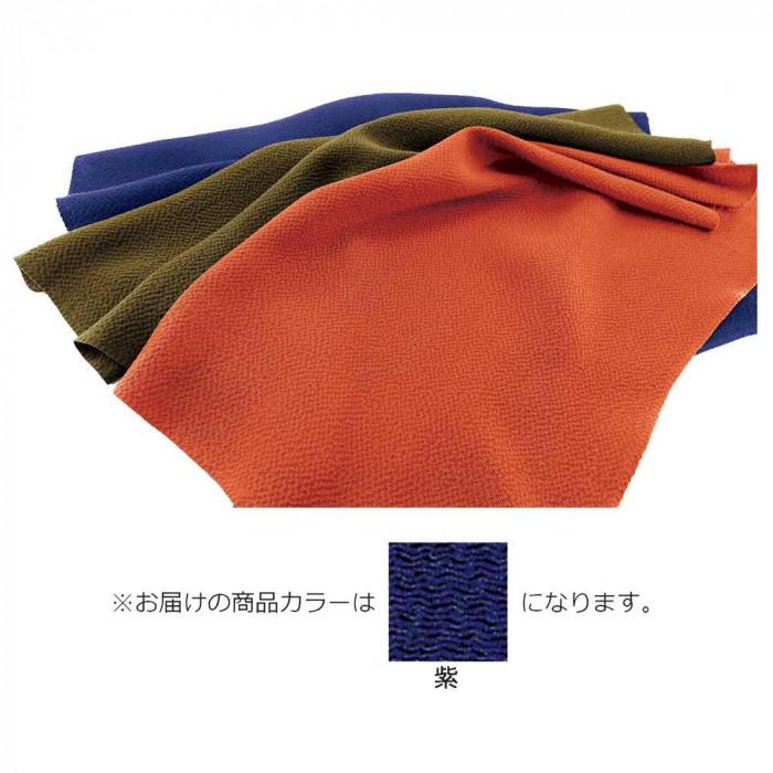 正絹ちりめん無地ふろしき 三巾 紫 49-012201 メーカ直送品  代引き不可/同梱不可