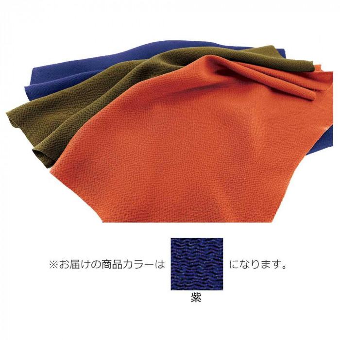 正絹ちりめん無地ふろしき 二四巾 紫 49-011201 メーカ直送品  代引き不可/同梱不可
