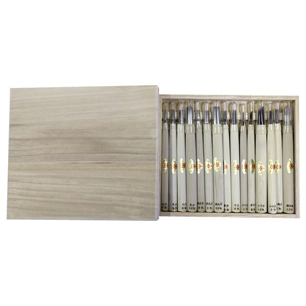 三木章刃物 木彫用彫刻刀 木箱入 15本組 140470 代引き不可/同梱不可