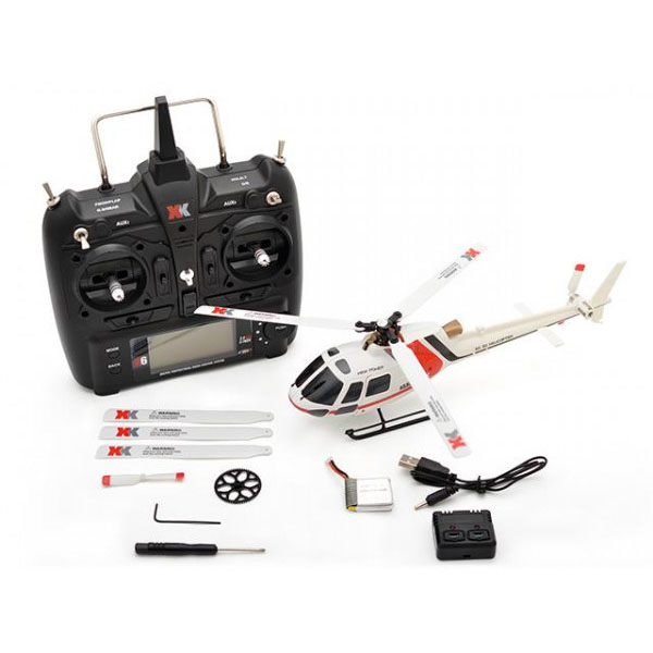 ハイテック XK製品 6CH ブラシレスモーター 3D6Gシステムヘリコプター AS350 K123 RTFキット 代引き不可/同梱不可