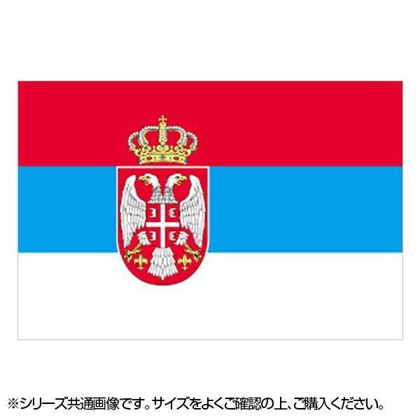 N国旗 セルビア No.2 W1350×H900mm 23160 メーカ直送品  代引き不可/同梱不可