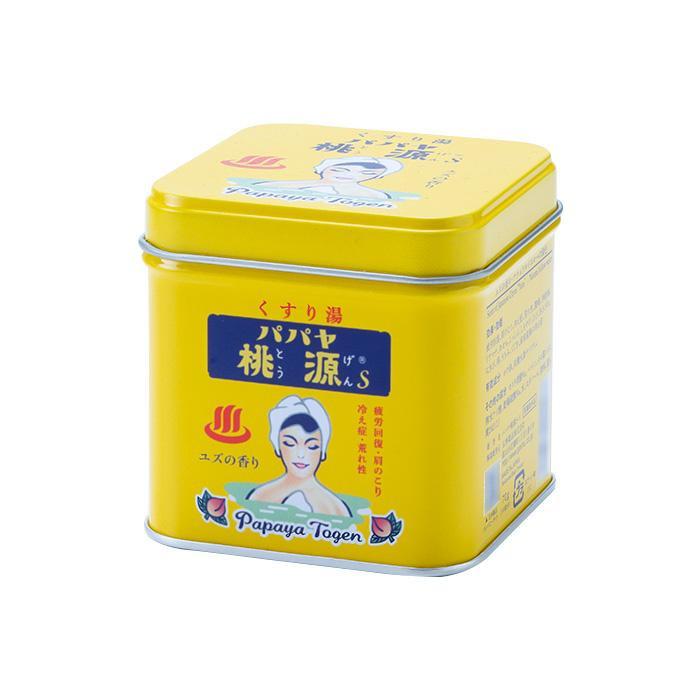 五洲薬品 薬用入浴剤(医薬部外品) パパヤ桃源S ユズの香り 70g缶×40個 メーカ直送品  代引き不可/同梱不可