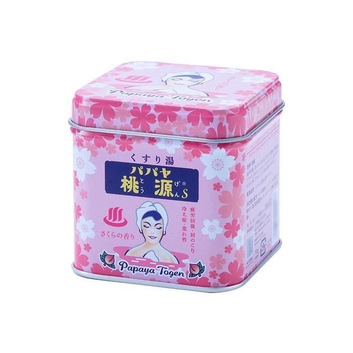 五洲薬品 薬用入浴剤(医薬部外品) パパヤ桃源S さくらの香り 70g缶×40個 メーカ直送品  代引き不可/同梱不可