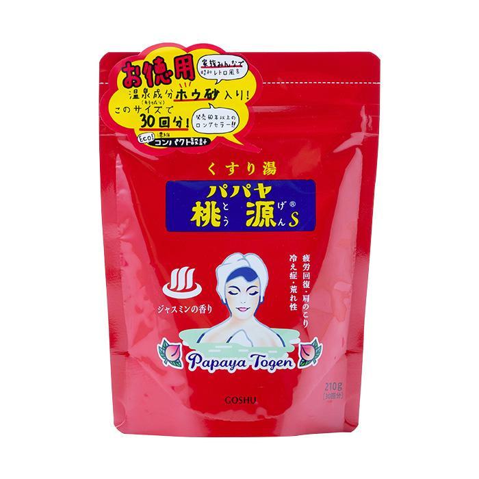 五洲薬品 薬用入浴剤(医薬部外品) パパヤ桃源S ジャスミンの香り (スタンディングパウチ) 210g×24袋 メーカ直送品  代引き不可/同梱不可