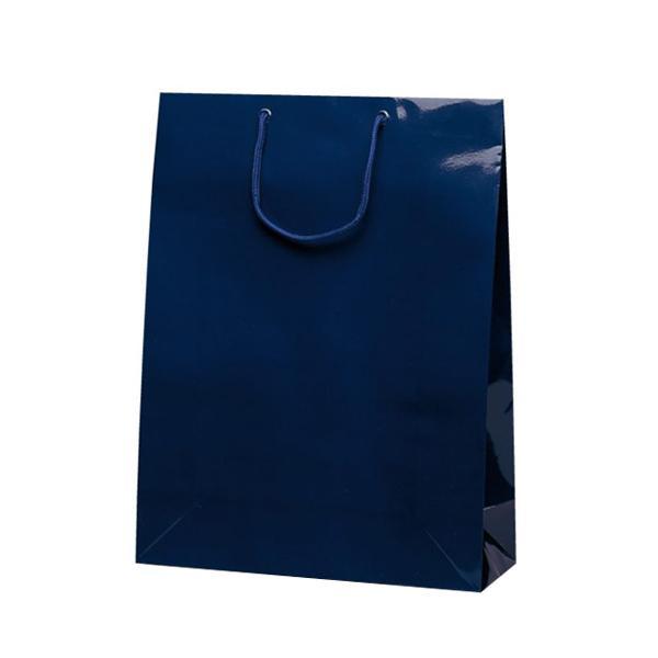グランドバッグ 手提袋 380×145×500mm 50枚 ネイビー 1145 メーカ直送品  代引き不可/同梱不可