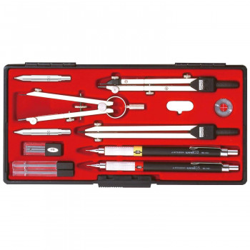 KD型製図器 SE 14品組 鉛筆製図セット 010-0005 メーカ直送品  代引き不可/同梱不可