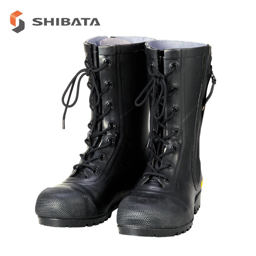 AF020 消防団員用ゴム長靴 SG201 黒 24.5センチ 代引き不可/同梱不可