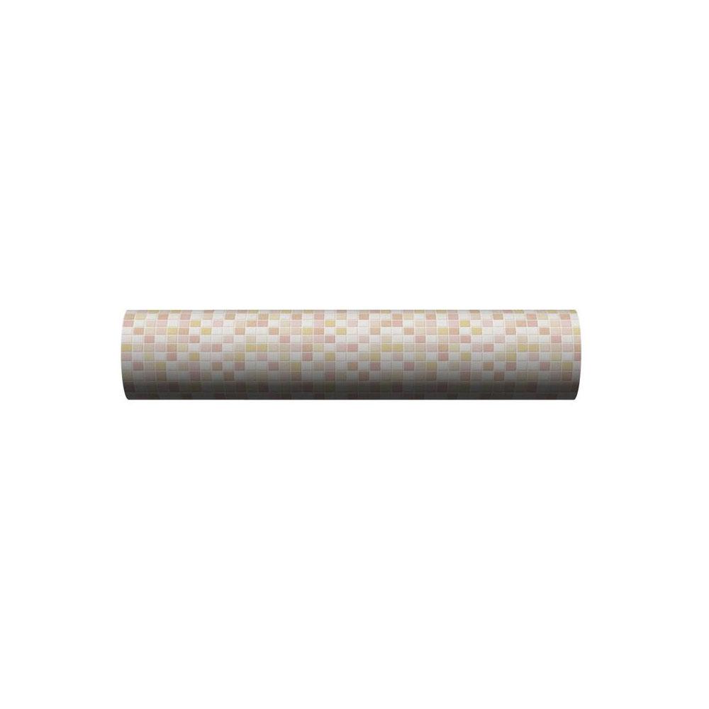 貼ってはがせる!床用 リノベシート ロール物(一反) ピンク(モザイクタイル) 90cm幅×20m巻 REN-05R 代引き不可/同梱不可
