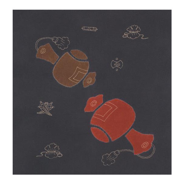 宮井 ふろしき 絹75cm幅 打出の小槌 鼠 11-5425-05 メーカ直送品  代引き不可/同梱不可