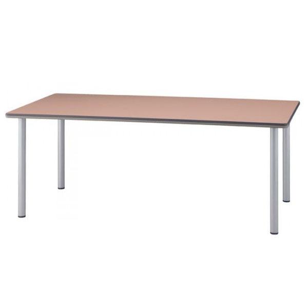 4本脚テーブル  長方形 TCS-275 120×75×70cm シルバー脚 代引き不可/同梱不可