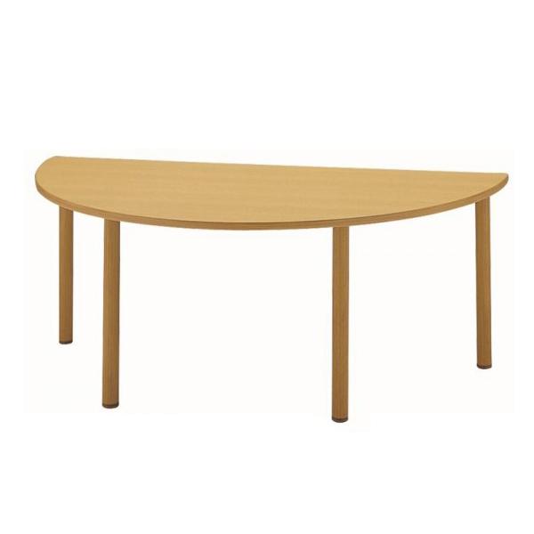 サンケイ 半楕円形テーブル(H700~750mm) TCA169-ZCW 代引き不可/同梱不可