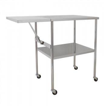 スギモト ステンレス製 折りたたみテーブル付器械台 OA-30 代引き不可/同梱不可