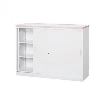オフィス・店舗向け システムカウンター 書庫型ハイカウンター 鍵付 天板W1200×D450mm 代引き不可/同梱不可