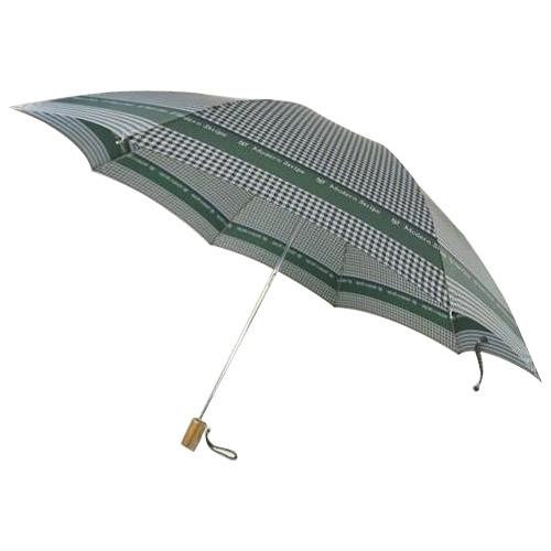 日本の職人手作り 千鳥格子二段式折りたたみ傘 緑(グリーン) CMC102B 代引き不可/同梱不可