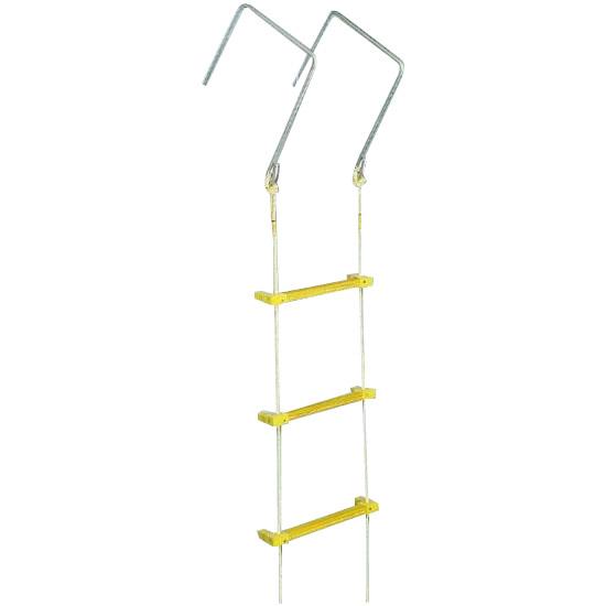 八ツ矢工業(YATSUYA) 縄はしご 大カギ付 10m 12032 メーカ直送品  代引き不可/同梱不可