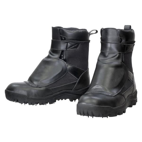 防護材付スパイク作業靴 甲ガード安全スパイクシューズ RV-202G メーカ直送品  代引き不可/同梱不可